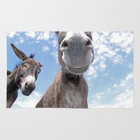 donkey Area & Throw Rugs featuring Funny Donkey by Claudia Otte ArtOfPictures