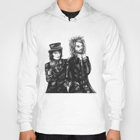 goth Hoodies featuring Goth Detectives by Grace Mutton