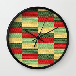 Fabric coarse texture rough red Wall Clock