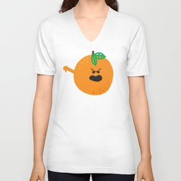 Vulgar Fruit // Obscene Orange Unisex V-Neck