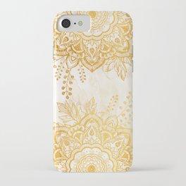 Queen Starring of Mandala-Gold Sunflower II iPhone Case
