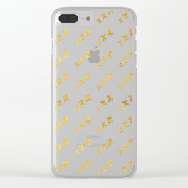 Zzzs Pattern in Gold Clear iPhone Case