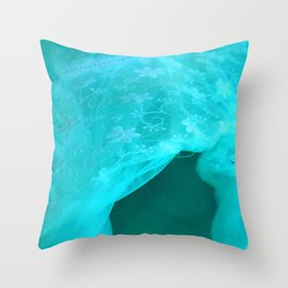 ghost in the swimming pool: aquagreen variations Throw Pillow