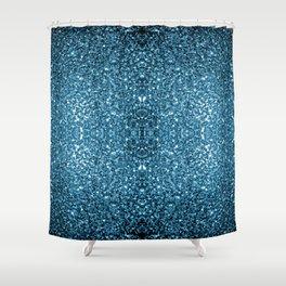 Beautiful Baby blue glitter sparkles Shower Curtain