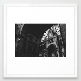 Antwerp Central Station Framed Art Print