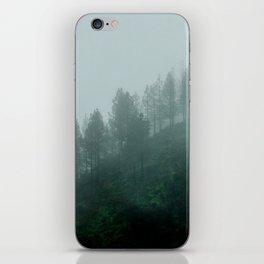 Foggy trees iPhone Skin