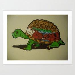 Tagged Turtle Art Print