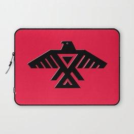 Thunderbird flag - Black on Red variation Laptop Sleeve