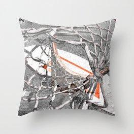 Basketball Artwork Backstreet Throw Pillow