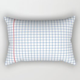 Dotted Grid Red and Blue Rectangular Pillow
