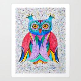 Color Owl Art Print