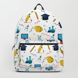COLORFUL SCHOOL ELEMENTS Backpack