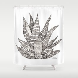 Succulent love- Haworthia Shower Curtain