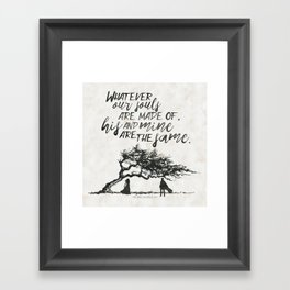 Wuthering Heights - Souls Framed Art Print
