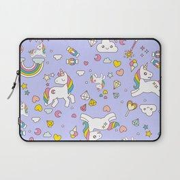 Unicorn Lilac Pattern Laptop Sleeve