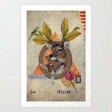 Animal Collection -- Oh Deer! Art Print