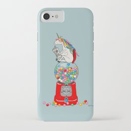 Unicorn Gumball Poop iPhone Case