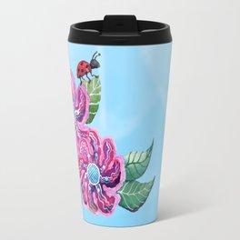 Contemplative Ladybug Travel Mug