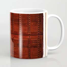 Masala Chai - Red Door in India - Millenial Pink Magenta Maroon - Antique Eclectic Travel Architecture Coffee Mug