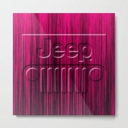 Jeep Pink Style Metal Print