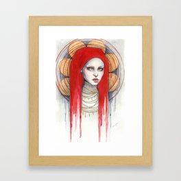 """Kaos"" Mixed Media Portrait painting Framed Art Print"