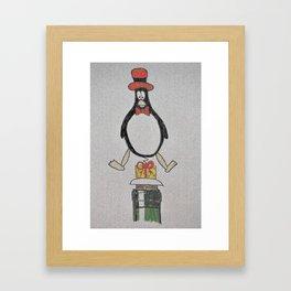 penguin wine stopper Framed Art Print