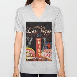 greetings from Las Vegas Unisex V-Neck