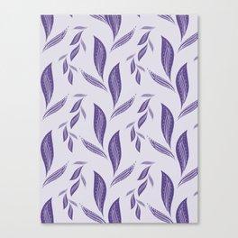 Ultraviolet Foliage #society6 #pattern #ultraviolet Canvas Print
