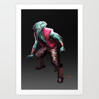 cthulhu Art Prints featuring CTHULHU by Yoncho Yonchev