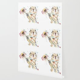 Gopher Colorful Watercolor Painting Wallpaper
