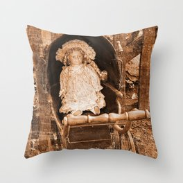 Vintage Doll Throw Pillow
