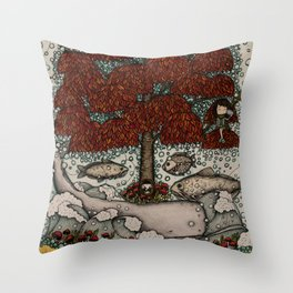 phones are for the uninspired (and the far away) Throw Pillow