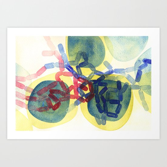 Gram Positive & Negative IV Art Print