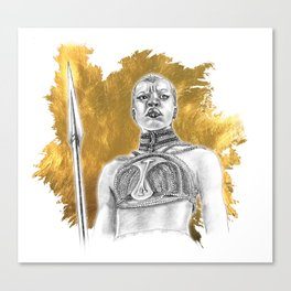 Okoye Warrior Woman #Blackpanther #wakanda Canvas Print