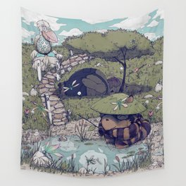 Spirited among the Dragonflies Wall Tapestry