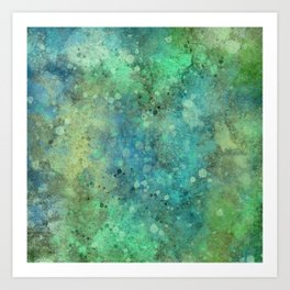 Digitally Painted texture 04 Art Print