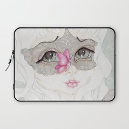 Mysterious Lady Butterfly Laptop Sleeve