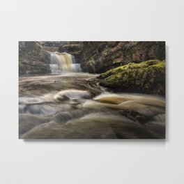 Dinas Rock Waterfalls Metal Print