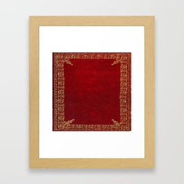 Red and Gilded Gold Book Framed Art Print