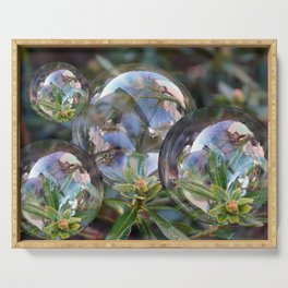 Flower bubbles Serving Tray