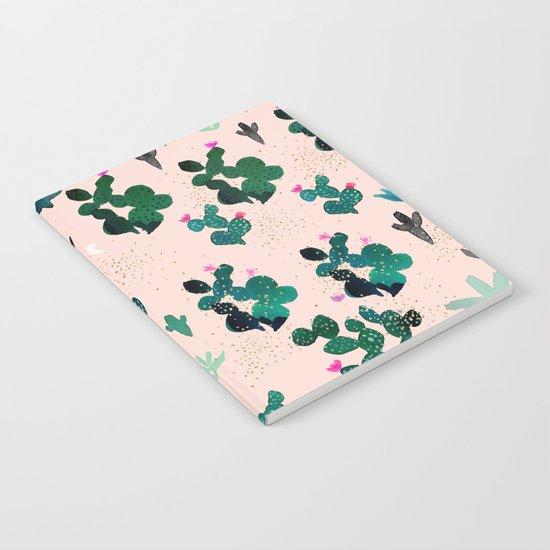 Pink Dusk Moon Cactus Notebook