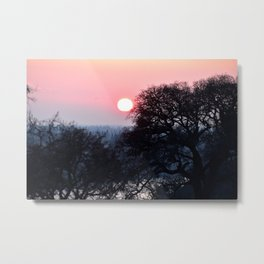 A Red Sunst Metal Print