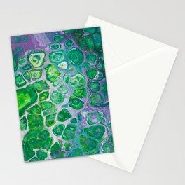 Green marble painting Stationery Cards