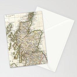 Vintage Map of Scotland (1772) Stationery Cards