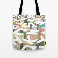 ilovedoodle Tote Bags featuring The Capital by I Love Doodle