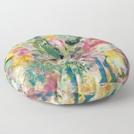 Bright Blossoms Floor Pillow