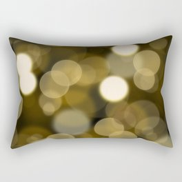 Abstract black gold color modern unfocused lights Rectangular Pillow
