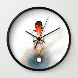 The Exclamation, male nude emotional, NYC artist Wall Clock