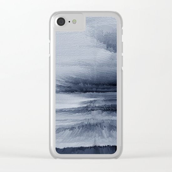 Abstract black painting 2 Clear iPhone Case