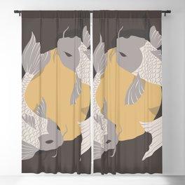 Koi fish 003 Blackout Curtain